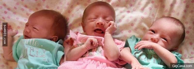 這對夫妻和剛生下來的三胞胎拍了一張照片,但是醫生看了寶寶們的臉卻察覺到很不尋常…