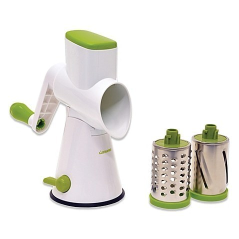 Or this grater that does it with ~hand power~.