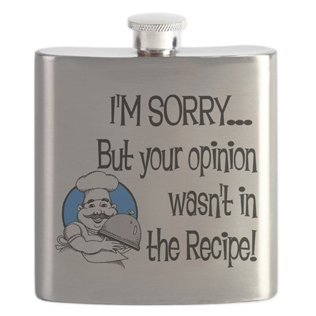 A flask that you can take a swig from anytime a relative comes poking around.