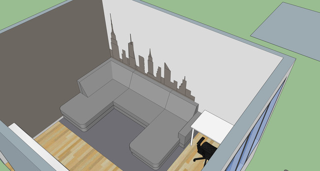 They used SketchUp to make sure the measurements would line up with their couch.