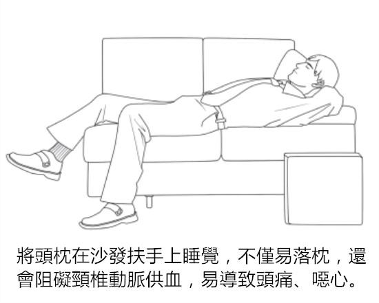 由此可见,上班族趴在桌上和躺在沙发上午睡的做法,都不可取.