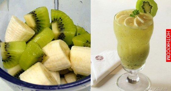 奇異果跟香蕉打成汁竟能「狂排宿便」!加上一樣東西,更能美白!(歡迎分享!)