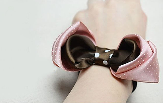 韓版布藝蝴蝶結的手工製作方法及diy雙層布藝蝴蝶結髮飾教程
