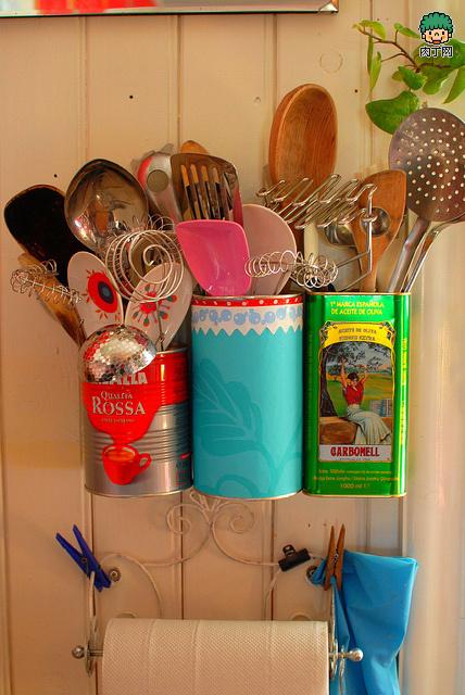 10 種鐵皮罐(奶粉罐)手工DIY創意家居設計方案圖片展示