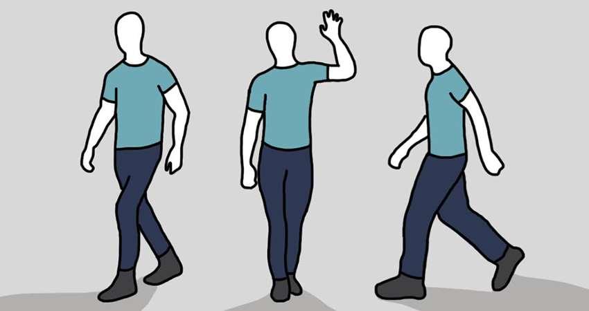 观察一个人就从走路姿势开始.
