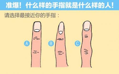 手指的類型透露了你的性格,准爆了!(圖)
