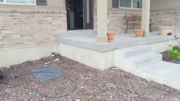 diy front step transformation before and after