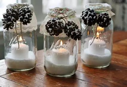 純白的雪世界——手工製作精美的雪花罐頭瓶裝飾燭燈
