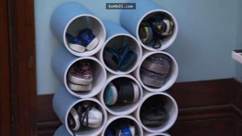 這個「超好用的PVC鞋櫃」看起來很複雜,但是做起來卻輕鬆到不小心就多做了幾個送給鄰居!