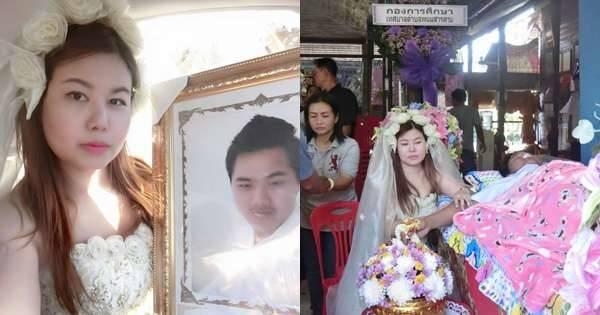 婚禮前夕新郎卻突然去世,堅持舉辦冥婚的她最後彎下腰對新郎做了這件事…