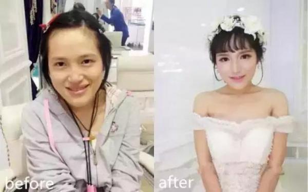 新娘結婚當天卸妝後,老公看了全淚崩! 尤其第1位,實在令人超震驚! 看到了她的真面目後,讓我從椅子上跌了下來!