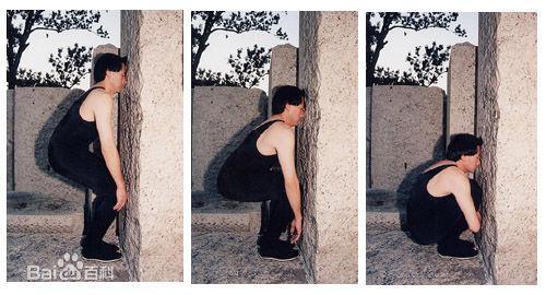 鍛鍊身體的強效方法「面壁蹲牆功」 效果非常神奇