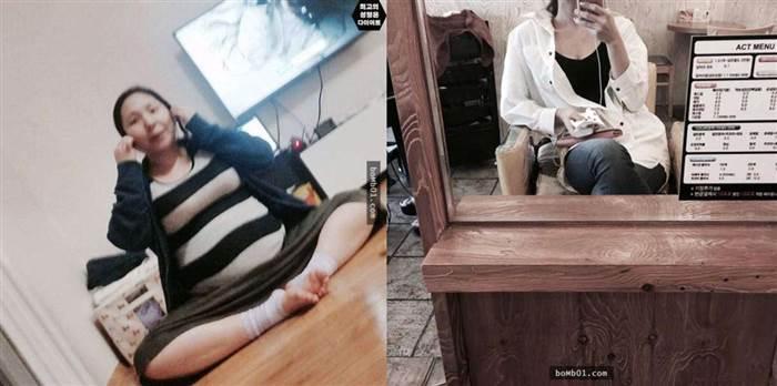 韓國超腫脹人妻生產后馬上進行飲食改變,現在看到她魔鬼般的身材讓大家都想運動了!