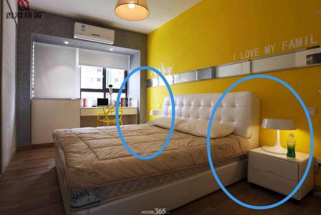 床頭兩邊櫃子萬萬不要這樣放,有錢人從不這樣做,再富貴也住窮