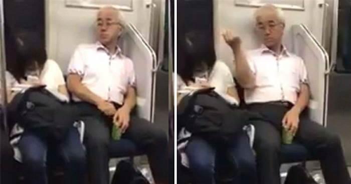 阿伯見旁邊女學生睡著了,居然將手【伸進私處拔毛來聞】然後做了讓人傻眼的舉動...
