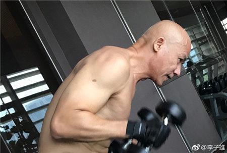 李子雄60歲不服老,肌肉暴增! 老夫少妻壓力大,嬌妻美過范冰冰