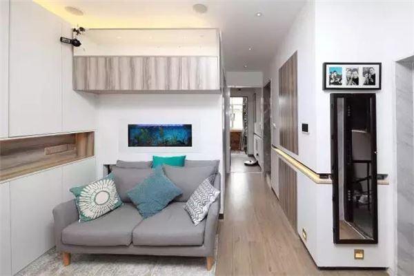 入墙式鱼缸设计,为新家增添了生机和活力.