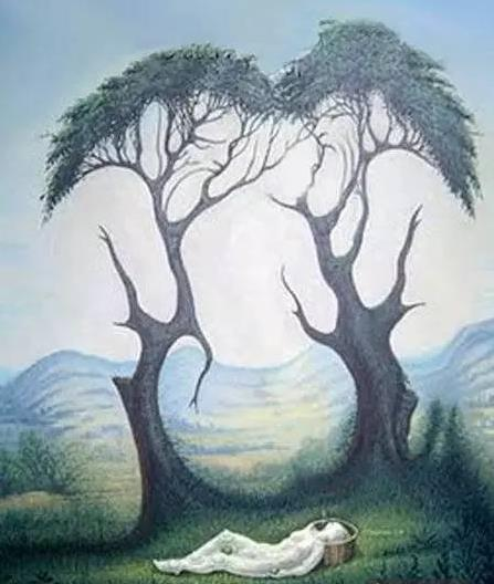 神奇!這張圖裡有6個人,4隻羊,你能全部找出來嗎?找到五個就是天才了!考驗你的眼力!