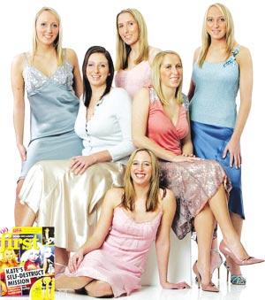 世界唯一六胞胎姐妹全長成性感美女(圖)