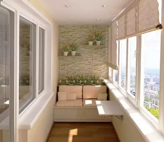 封闭式阳台变身小书房图片