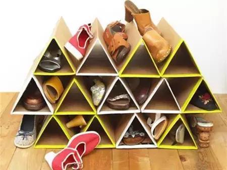 還買什麼鞋架,家裡一個快遞盒就能收納所有鞋子