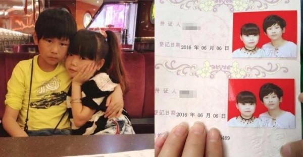「10歲小情侶」竟然這麼小就結婚了!網友:毛都還沒長齊就結婚?結果知道真相後,大家都鼻酸了!