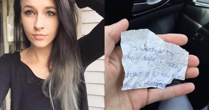 """女子買了""""咖啡和貝果""""給街友,沒想到離開後看到街友""""寫下的字條"""",發現她救了街友一命!"""
