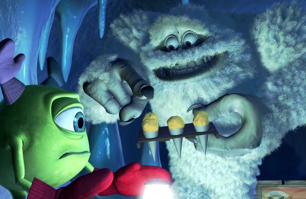 The Yellow Snow Cones from Monsters, Inc.