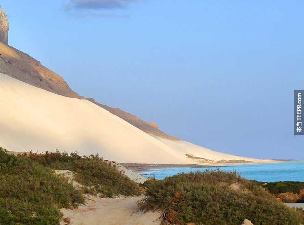 現在這一整座島都被沙子覆蓋。<BR><BR>