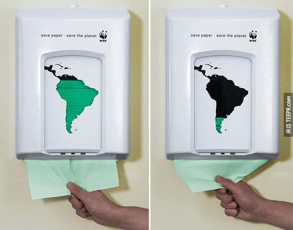 9.) 節約用紙,拯救地球。<BR><BR>