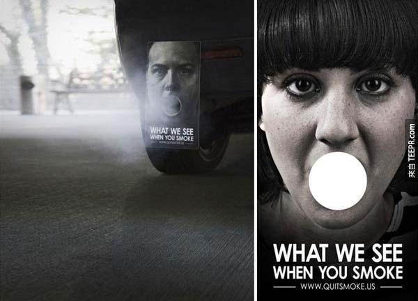 13.) 當你抽煙的時候,這就是我們看到的。<BR><BR>