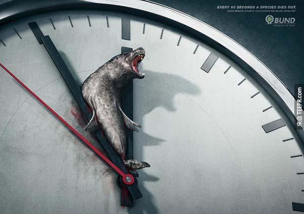 19.) 每60秒就有一個動物種類絕種。<BR><BR>