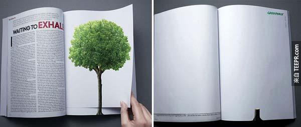 6.) 每翻一頁就減少一棵樹。<BR><BR>