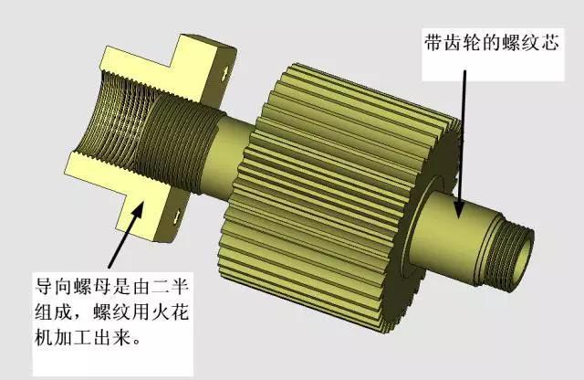 這套模具不簡單,有螺紋自動抽芯,還有螺紋芯內冷卻機構...
